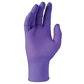 Driza salud sin polvo de nitrilo guantes de examen, desechables, color morado