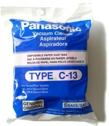 Panasonic Type C-13 Bags #AMC-S5EP- Genuine - 5 Pack (Panasonic Bag Paper)