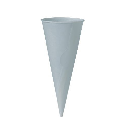 SOLO 904R-2050 Bare Eco-Forward Treated Paper Cone Jacket, 2-19/32'' Diameter x 6-19/64'' Height, White (30 Packs of 200) by Solo Foodservice