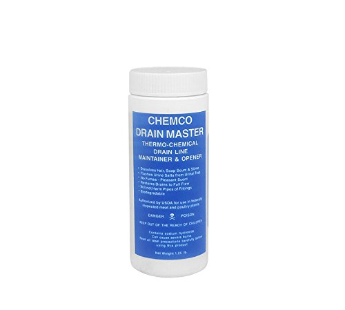 Industrial Drain Opener -Drain Master By Chemco - Industrial Drain Opener - 3x1 lb Bottles/Case