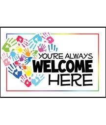 POSTCARD/Glad You Were Here/Adults Matt 18:20 pkg/25 (Kids Welcome Postcards)