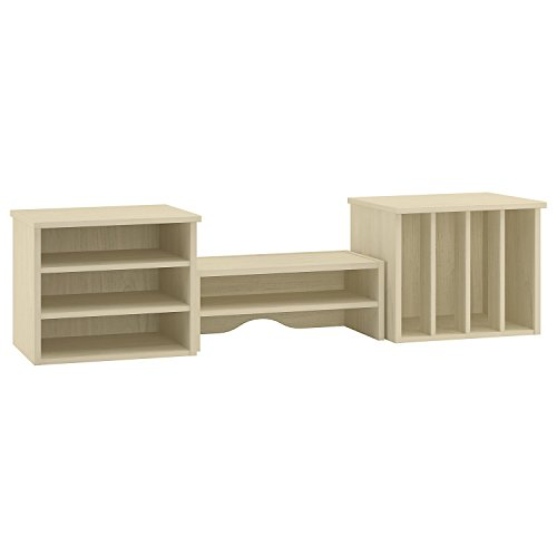 Bush Furniture Kathy Ireland Office Volcano Dusk Desktop Hutch, Driftwood Dreams Antique White Finish by Bush Furniture
