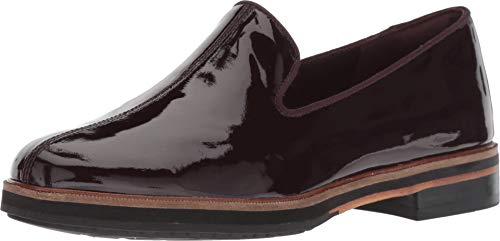 CLARKS Women's Frida Loafer Aubergine Patent Leather 6.5 B US B (M) ()