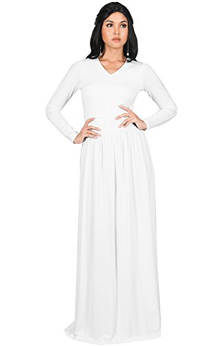full length long sleeve dress - 8