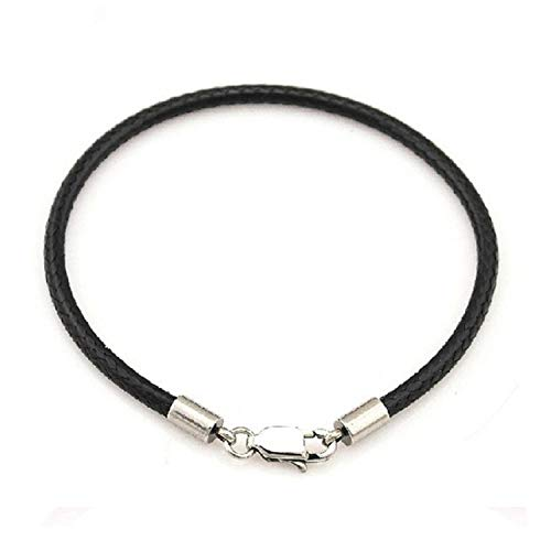 Friendshiy Sale Leather Red Girls Hand Rope Thread Black Bracelet for Women Men Couple Fashion Jewelry,Black