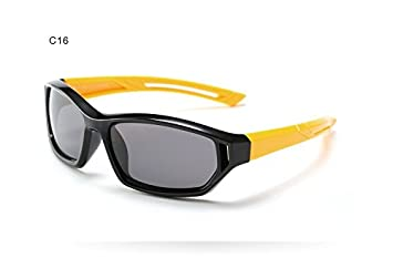 Nuevo Niño Gafas de sol Deporte fuera infantil Bebé Niños Niños polarizados Recubrimiento de seguridad Gafas
