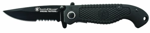Smith & Wesson Special Tactical CKTACBSD Liner Lock Folding Knife Partially Serrated Drop Point Blade