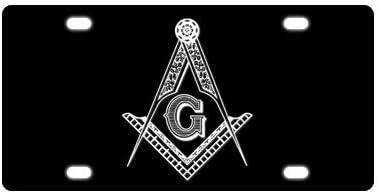 Unique Special Popular Design Custom Masonic License Plate Metal Car Tag 12 x 6 Inch