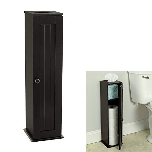 Wholesale Plumbing Supply Free Standing Espresso Toilet Paper Bathroom Cabinet Holder
