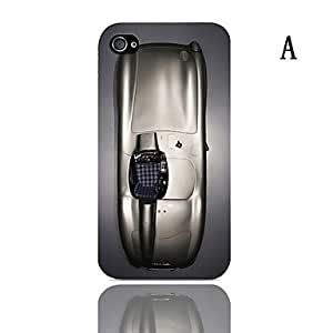 SHOUJIKE Skull Series Design Hard Case with 3-Pack Screen Protectors for iPhone 4/4S , A