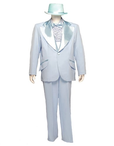 Men's Formal Adult Deluxe Tuxedo Costume, Light Blue, Large - Baby Dumb And Dumber Costumes