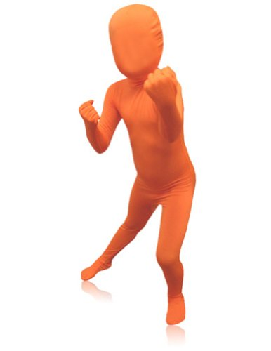 (AltSkin Unisex Full Body Spandex/Lycra Suit, Orange, Kids)