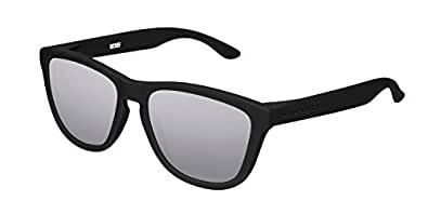 Hawkers Men's CARBON SILVER ONE OTR50 Rectangular Sunglasses, Black, 12 mm
