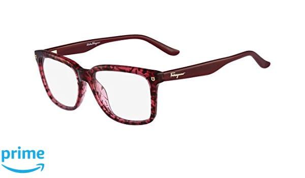 78cb8020ee Amazon.com  SALVATORE FERRAGAMO Eyeglasses SF2685 609 Red Tortoise 52MM