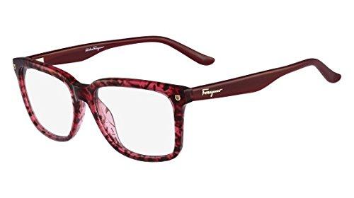8df695cff4b Amazon.com  SALVATORE FERRAGAMO Eyeglasses SF2685 609 Red Tortoise ...