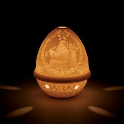 Lladro Santa Clause Christmas Lithophane Votive Light by Lladro