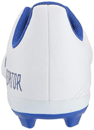 adidas Unisex Predator 19.4 Firm Ground Soccer Shoe White/Bold Blue/Bold Blue, 3 M US Little Kid by adidas (Image #2)