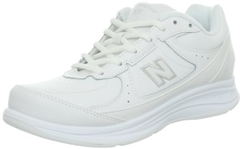 New Balance Women's WW577 Walking Shoe, White, 8 B US