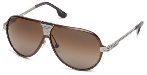Diesel DL00686146J Aviator Sunglasses,Brown,61 - Diesel Aviators
