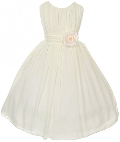 ivory a line flower girl dress - 9
