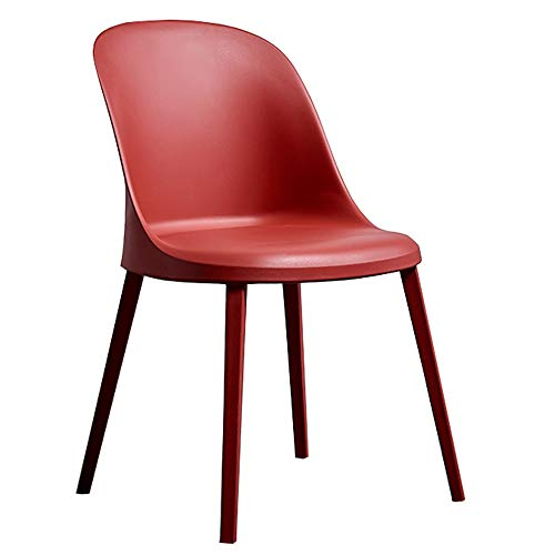 (LJFYXZ Modern Design Dining Chairs Home Chair Suitable for Indoor and Outdoor use Plastic Side Chair for Office Lounge Use Ideal Patio Chair or Contract Seating (Color : Red))