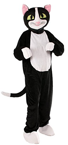 Forum Novelties Men's Catnip The Cat Plush Mascot Costume, Black, One Size