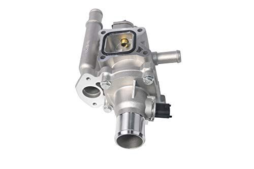 (Coolant Thermostat and Housing Assembly with Sensors - Fits Chevy Cruze, Limited, Trax, Sonic 1.8L & 1.6L - Replaces 25192228, 55564890, 55577284, 15-81816, 902-033, 55579951, 96984103 - Full)