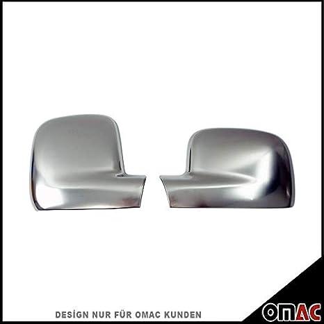 Für VW Caddy IV ab 2015 Spiegelkappen Blenden 2 tlg aus Abs Chrom