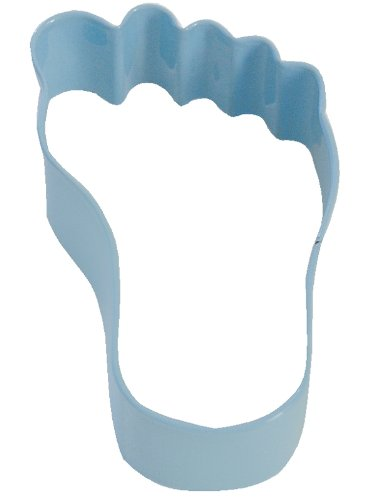 R&M Foot 3.5 inch Cookie Cutter Blue with Brightly Colored, Durable, Baked-on Polyresin Finish