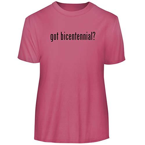One Legging it Around got Bicentennial? - Men's Funny Soft Adult Tee T-Shirt, Pink, XX-Large