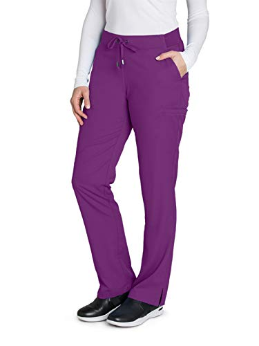 - Grey's Anatomy 4277 Straight Leg Pant Very Berry M