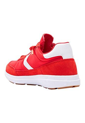 next Niños Zapatillas Elásticas con Cordones (Niño Mayor) Rojo