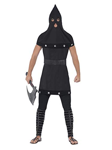 Smiffys Men's Dungeon Costume, Tunic and Hood, Legends of Evil, Halloween, Size ML, 44356 for $<!--$13.10-->