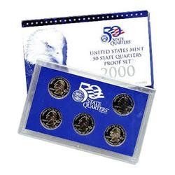 2000 S US Proof set 5 PCS In original packaging from mint State quarters Proof