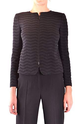 Armani Collezioni Women's Mcbi36367 Grey Cotton Jacket