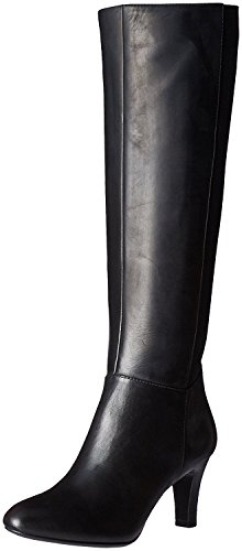 Bandolino Women's Winola Chelsea Boot, Black Leather, 8 M US (Leather Heels Bandolino)