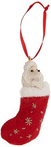 Poodle Christmas Stocking Ornament with