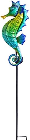 Moonrays 96351 Majestic Seahorse Stake Light, Blue, Green, Yellow