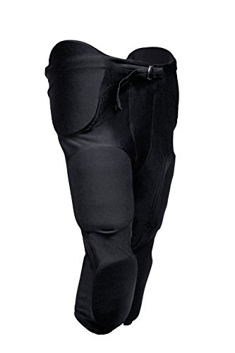 Adult Football Game Pants - TAG Adult Football Game Pant with Integrated Pads (Large) Black (Waist 30