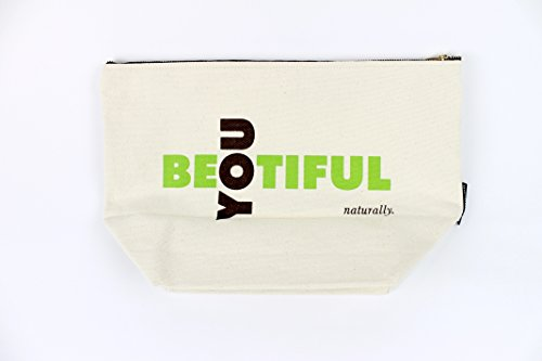 Makeup Bag; Washable Canvas Cosmetics Pouch With Zipper for