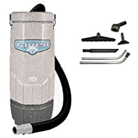 Sandia 20-3001, HEPA Raven 10 Quart Backpack Vacuum with 5 pc Standard Tool Kit, 11.5 Amps, 115 Volt, 1 Stage 1200 Watt Motor