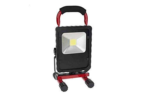 20W Work Area LED Light - 2 200 Lumens - 120V AC - Adjustable Trunnion Mount w/Sturdy Base