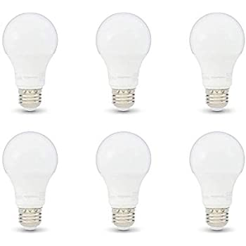 AmazonBasics 75W Equivalent, Soft White, Non-Dimmable, 10,000 Hour Lifetime, A19 LED Light Bulb | 6-Pack
