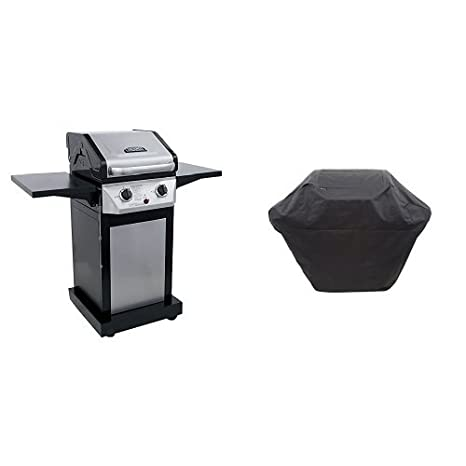 amazon com : thermos 300 2-burner cabinet liquid propane gas grill : garden  & outdoor