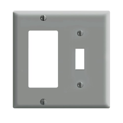 Leviton 80405 GY Combination Wallplate Thermoset