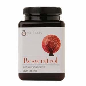 Amazon.com: Youtheory Resveratrol Anti-Aging Benefits, Tablets 290 ...