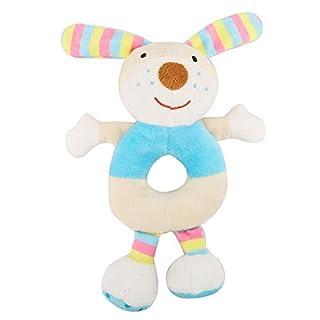 Baby Rattle Toy,Soft Newborn Infant Plush Hand Bell,Baby Child Toy Rattle Sound Cartoon Animal Pet Gift(Striped Rabbit)