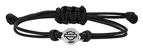 - Harley-Davidson Women's Bar & Shield Outline Circle Wax Cord Bracelet HDB0404
