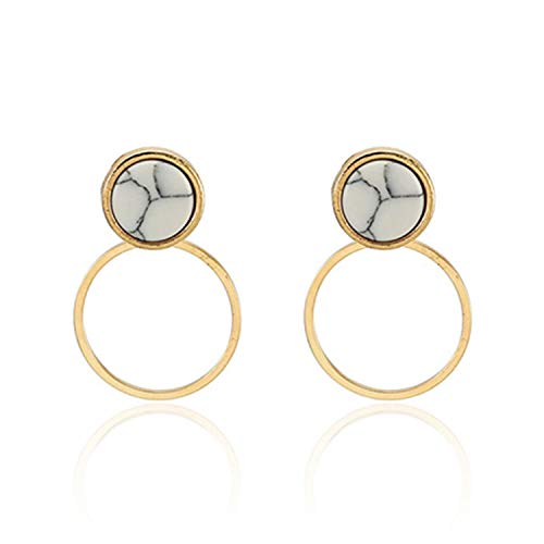 ent Round Dangle Earrings for wedding party Christmas gift,74B ()