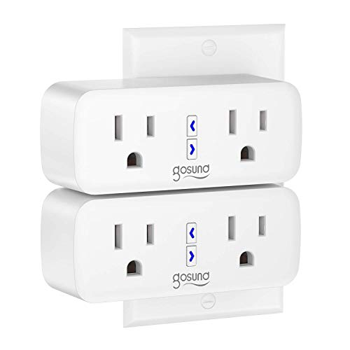 Smart Plug, Gosund Dual WiFi Outlet Plug 2 in 1 Extenders Socket Works with Alexa Google Home Plugs, Schedule and Timer…